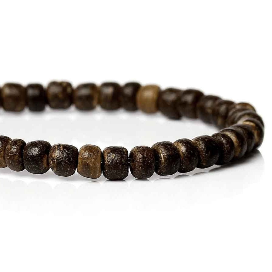 140 Natural brown coconut wood Beads 4mm