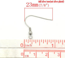 Load image into Gallery viewer, Stainless steel French Hook earring hooks ear wire 100 pc (50 pairs) Hypoallergenic