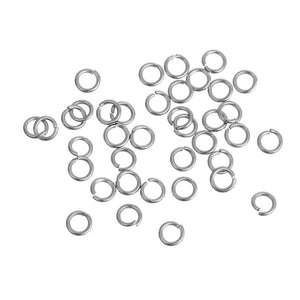 Hypoallergenic Silver JumpRings 3mm - 500pcs Stainless Steel Opened Jump Rings