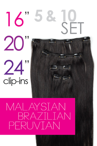 5 & 10 Clip-in Hair Extensions Set