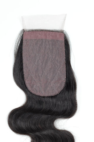 "16"" Silk Base Virgin Hair Closures"