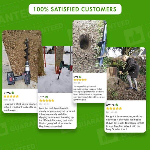 Eazy Garden - Planting Auger 100% Happy Customers