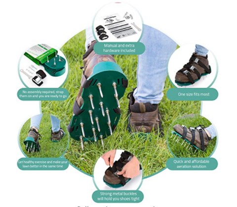 lawn maintenance tech lawn aerator shoes
