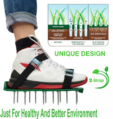 easy to use functional lawn aerator shoes plant soil lawn ventilation