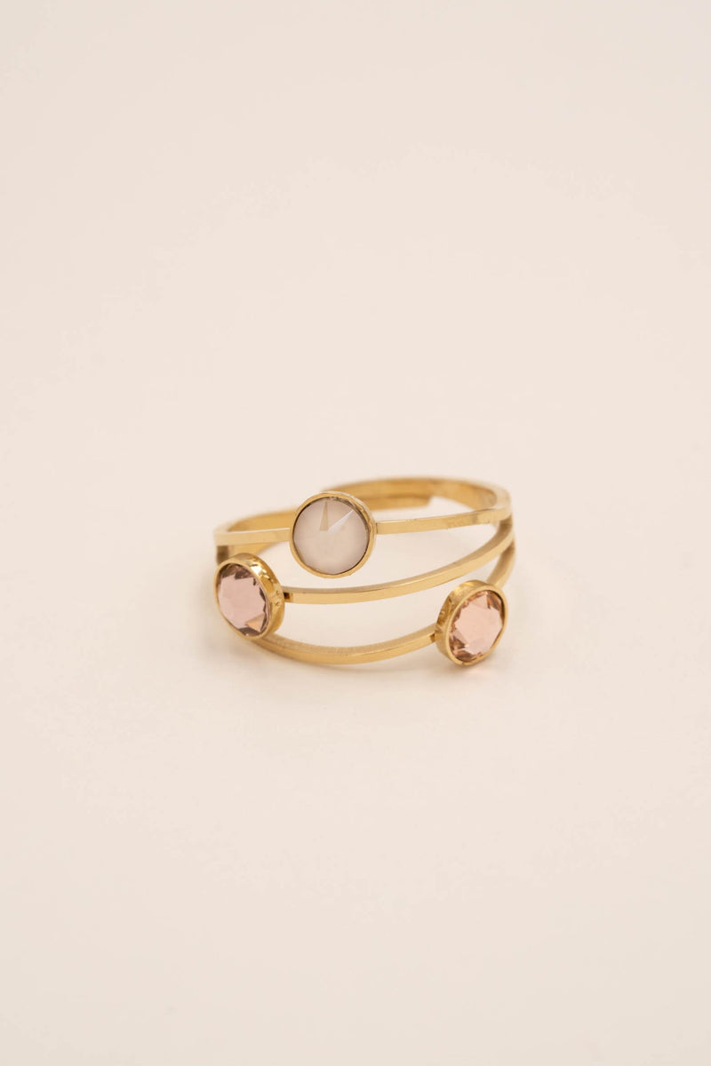 Bague Bella Bague Bohm Paris beige rosé