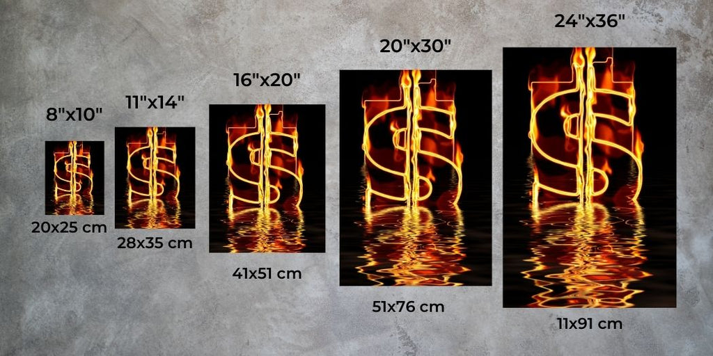 Vertical Wall Art Size Guide