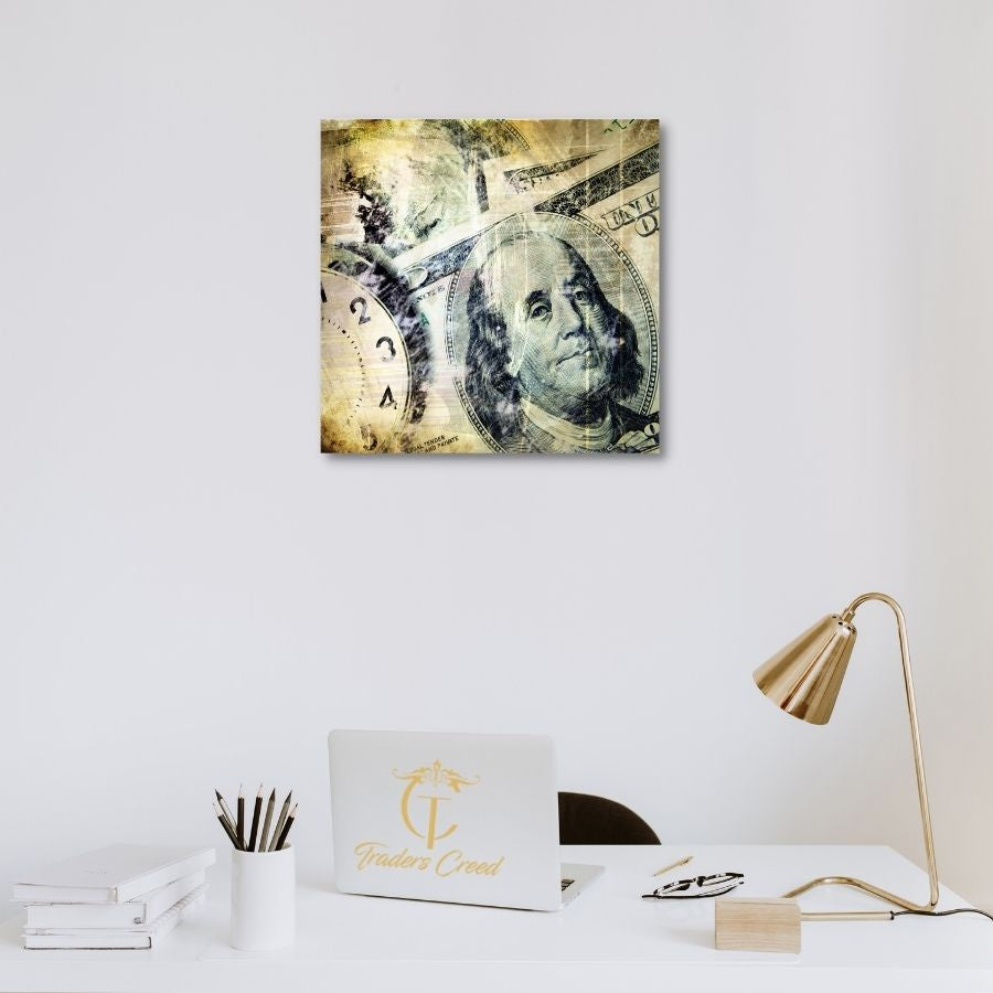 Time & Money Acrylic Wall Art