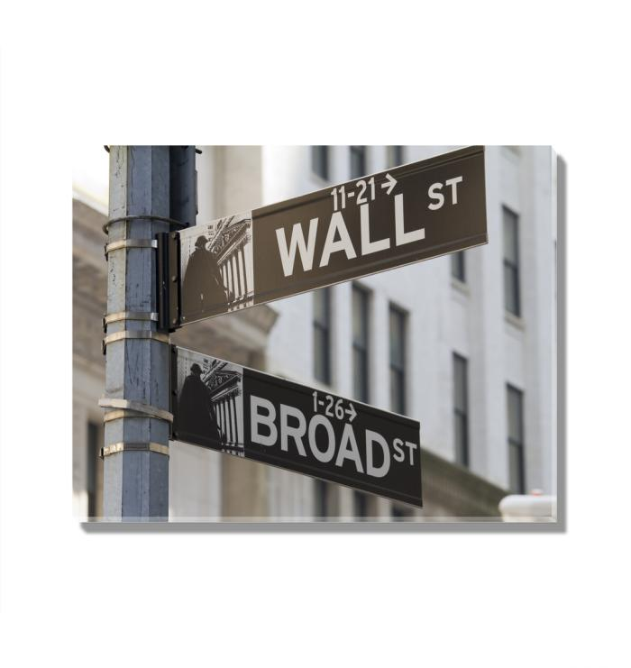 Broad ST and Wall ST Acrylic Wall Art