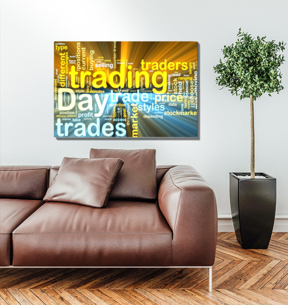 Day Trader Word Cloud Wall Art