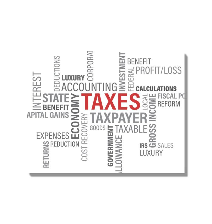 Infamous Words of Taxes Acrylic Wall Art