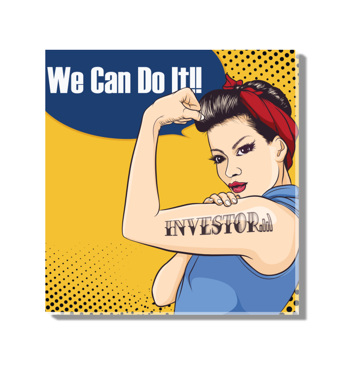 Rosie Riveter Investor Tattoo Acrylic Wall Art