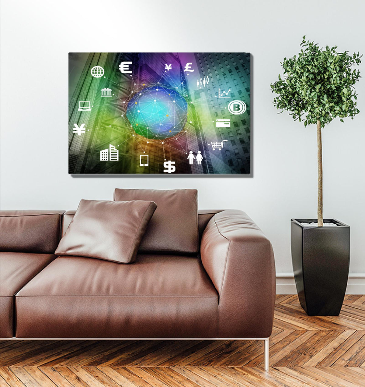 Network of Global Markets Acrylic Wall Art