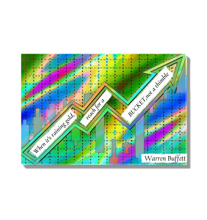 Warren Buffet Quote Abstract Acrylic Wall Art