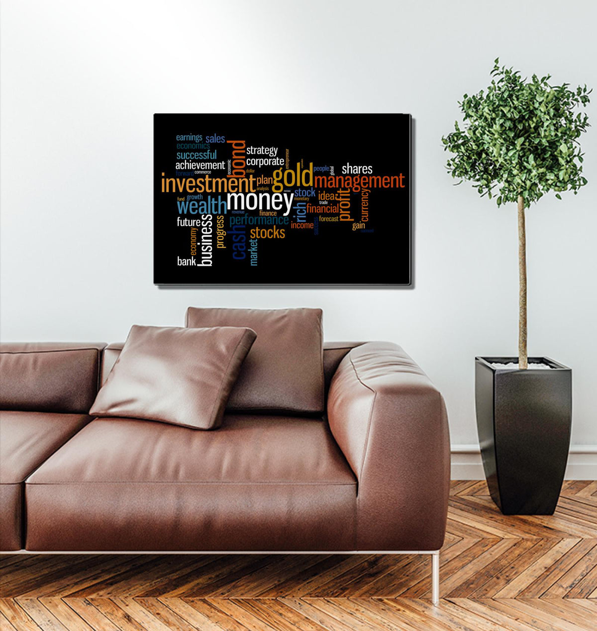 Words of Investing World Acrylic Wall Art
