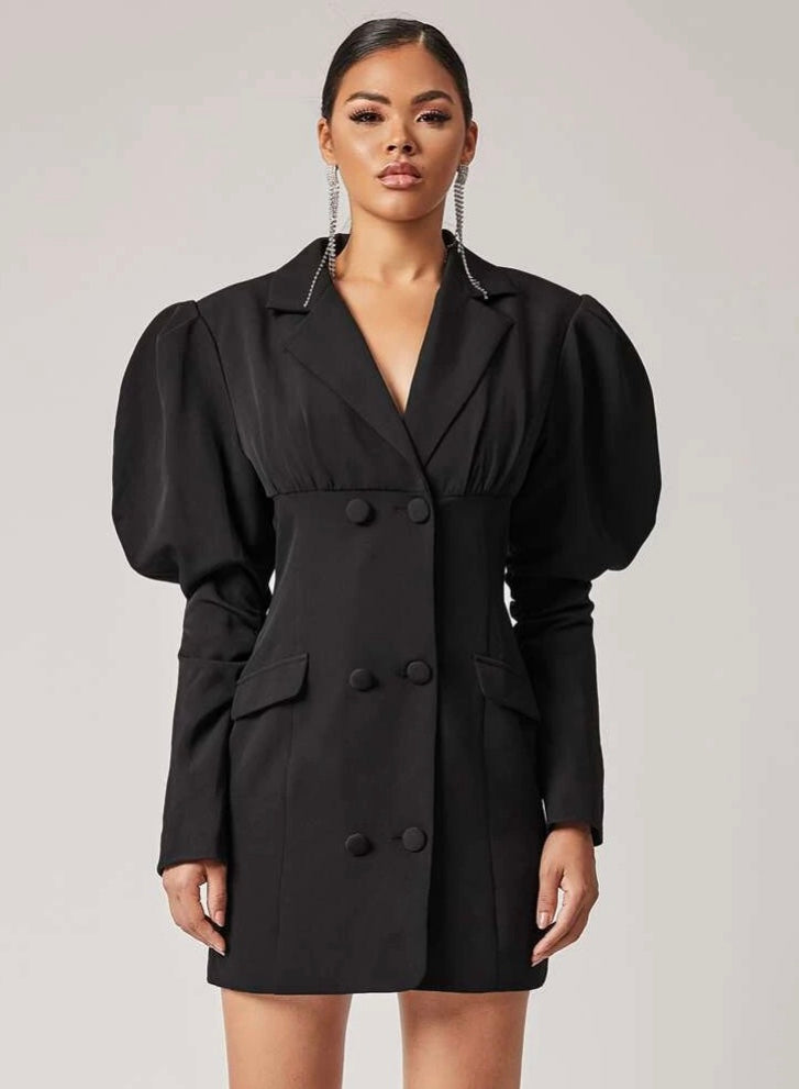 Mania Gigot Sleeve Blazer Dress