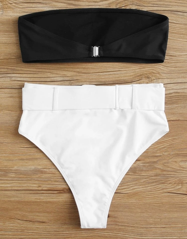 Belted High-waist Set
