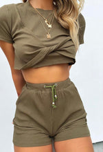 Sporty Girl Set Army Green