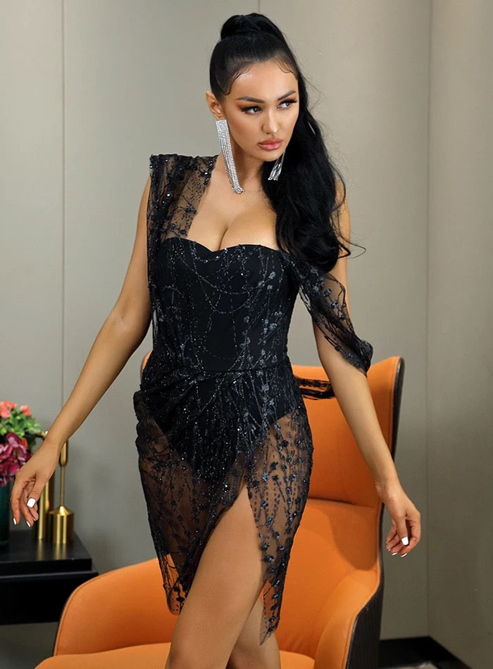 Sparkle With It Black Dress