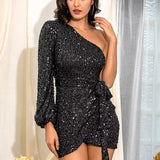 Black Sequin Dress