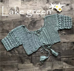 Crochet Lake Green Top