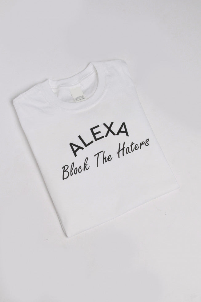 Alexa Block The Haters Oversized Slogan T-shirt