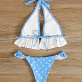 Blue Logan Polka Set