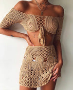 Crochet Skirt Brown