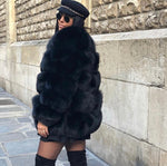 Gina Faux Fur Coat (Middle Length)