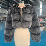 Elgin Faux Fur Cropped (MORE COLOURS)