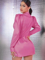 Gigot Sleeve Blazer Dress