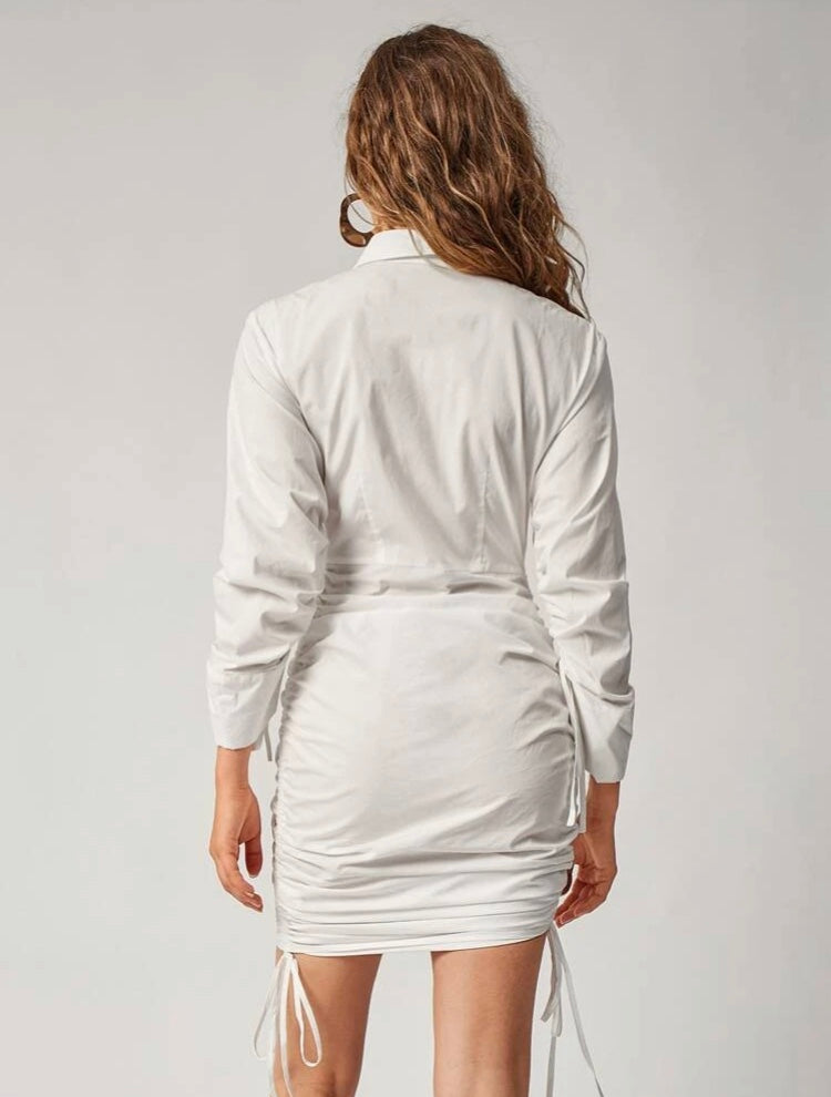 Solid Shirt Dress