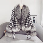 Tweed Fur Coat (More Colours)