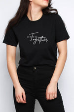 We Are In This Together Slogan Oversized T-shirt Black