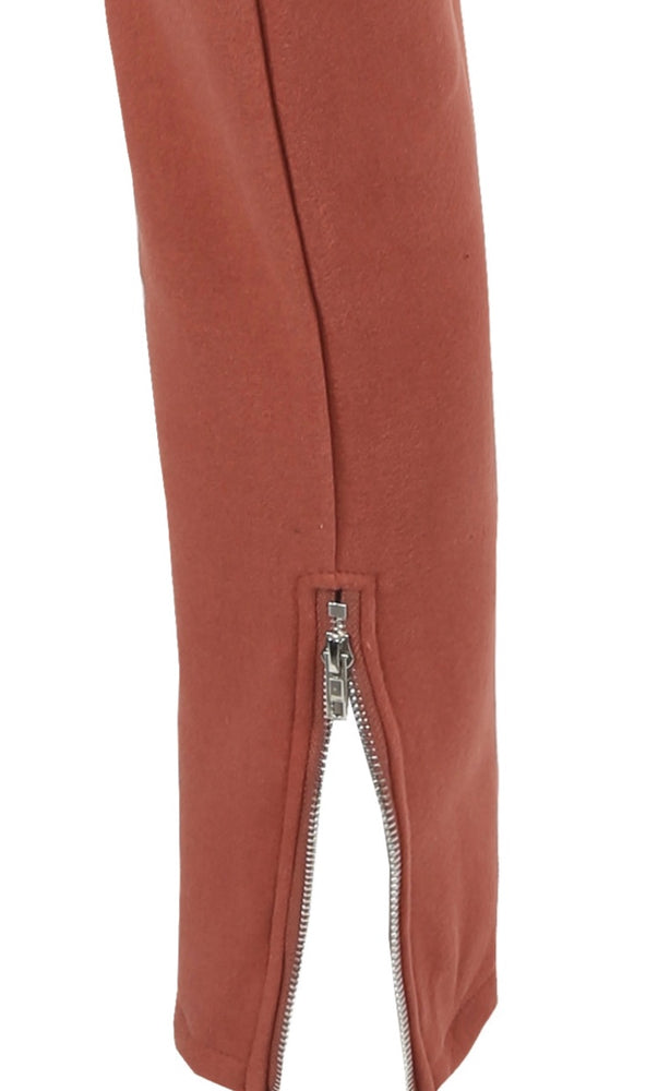 ROUND NECK KNITTED JUMPER & ZIP UP ANKLE TROUSERS SET (More Colours)