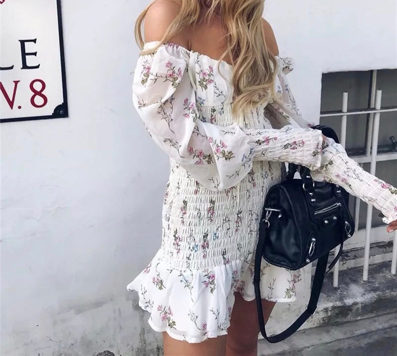 Flower Mini Dress