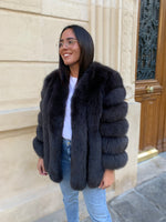 Deniz Faux Fur Black Coat