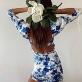 Open Back Blue Skies Dress