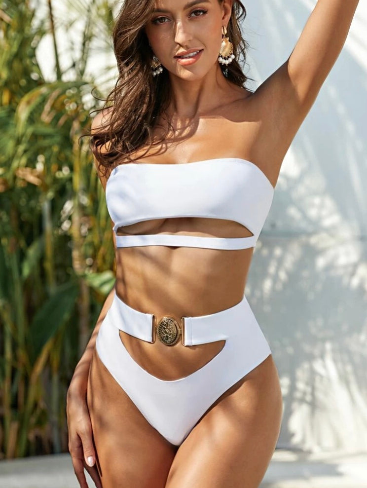 White Buckle Set