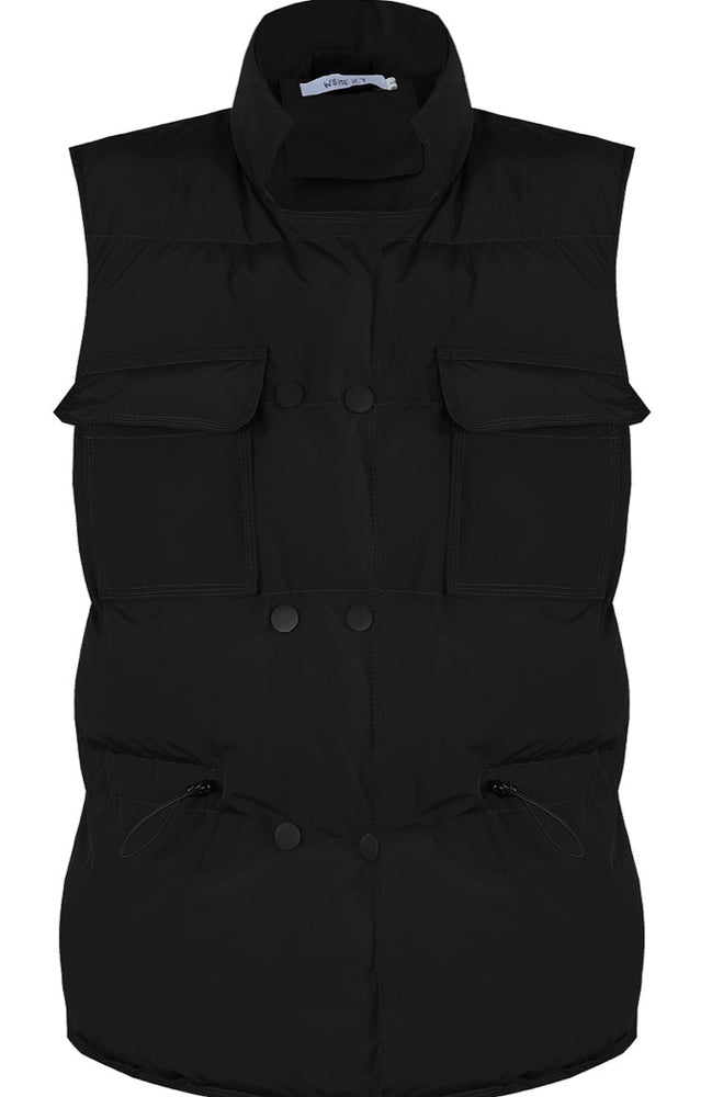 FRONT POCKETED BUTTON UP PUFFER GILET (More Colours)
