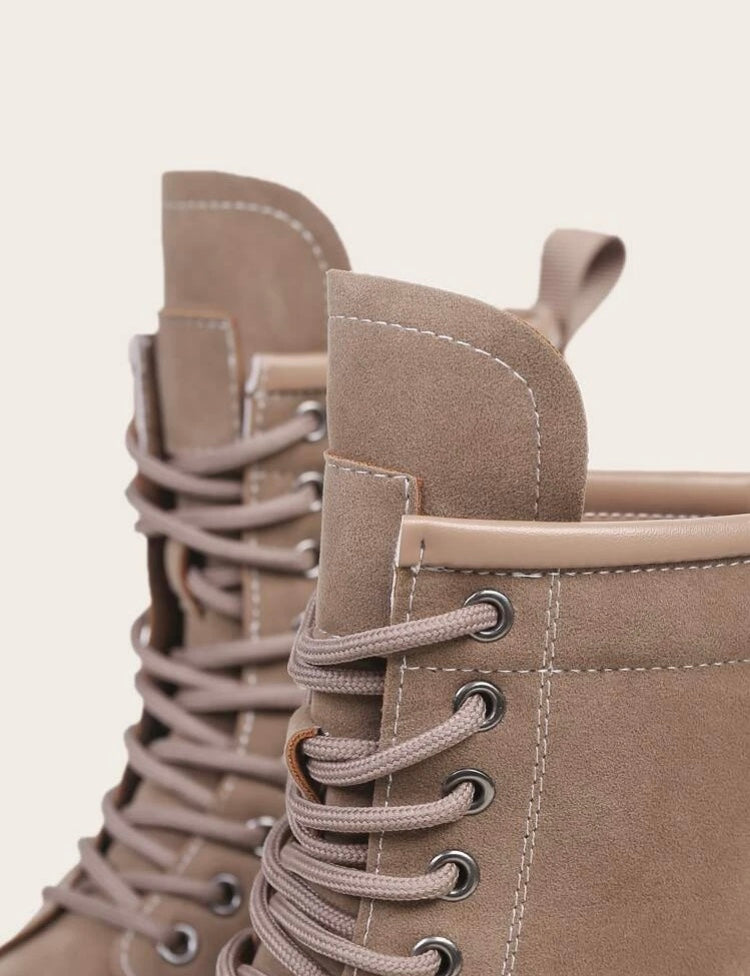 Minimalist Lace Up Boots
