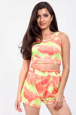 High-Waisted Tie-Dye Shorts Co-Ord Set (more colours)