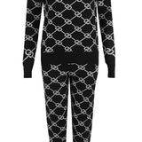 KNITTED HOODIE JUMPER & TROUSER CO-ORD