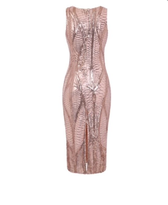 Glamour Dress- Rose Gold