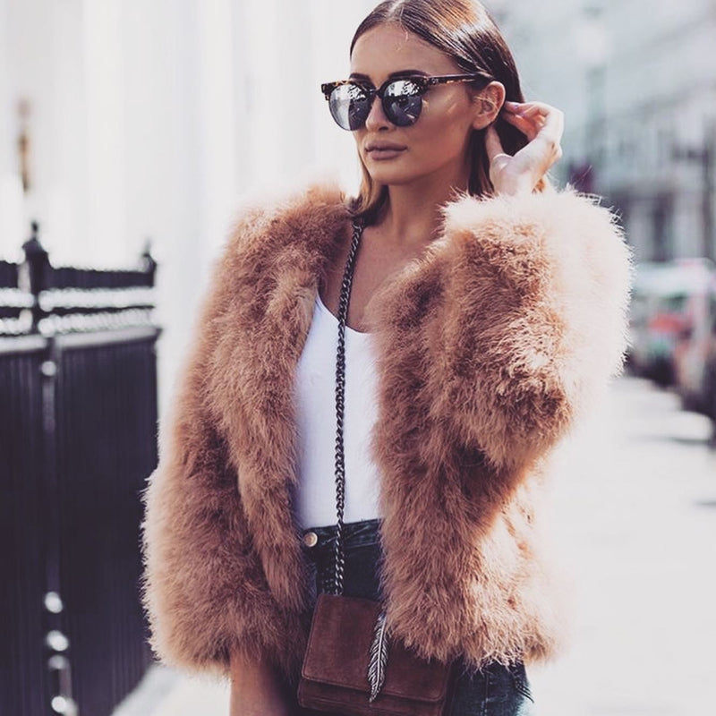 Ostrich Feather Coat Chocolate