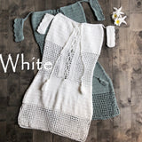 Ella Crochet White Dress