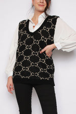C Knit V-neck Sweater Knitted Vest (More Colours)