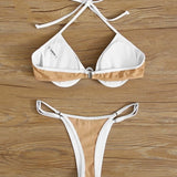 Sunflower White Bikini Set