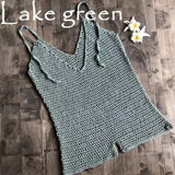 Crochet Lake Green Rompers