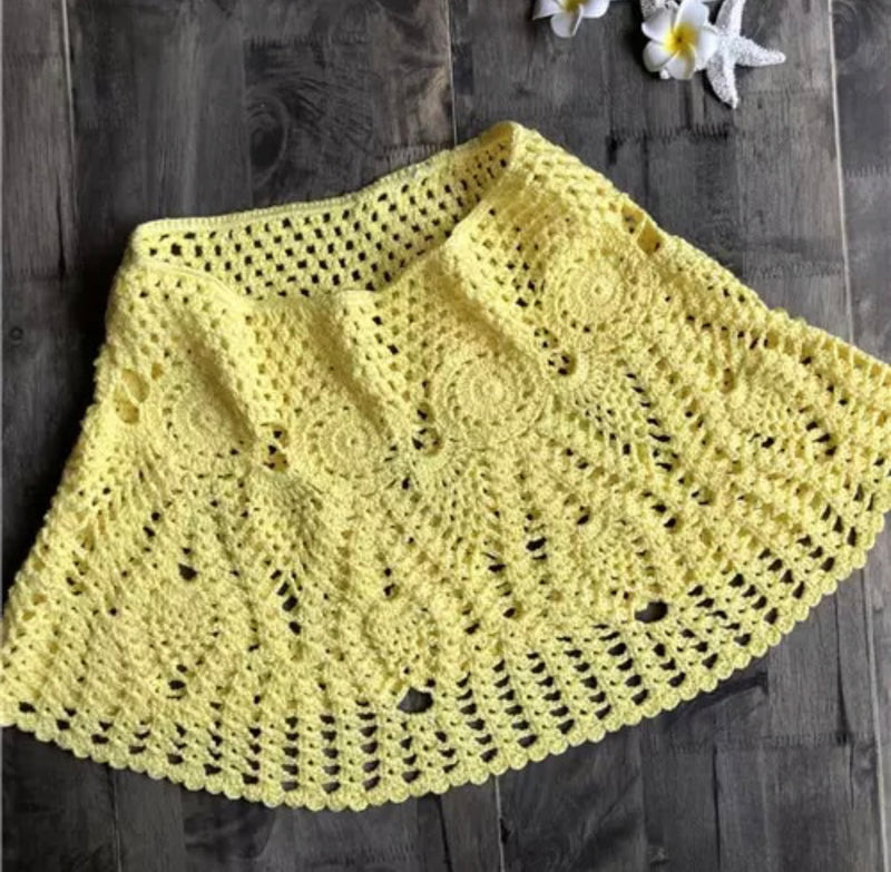 Crochet Yellow Skirt