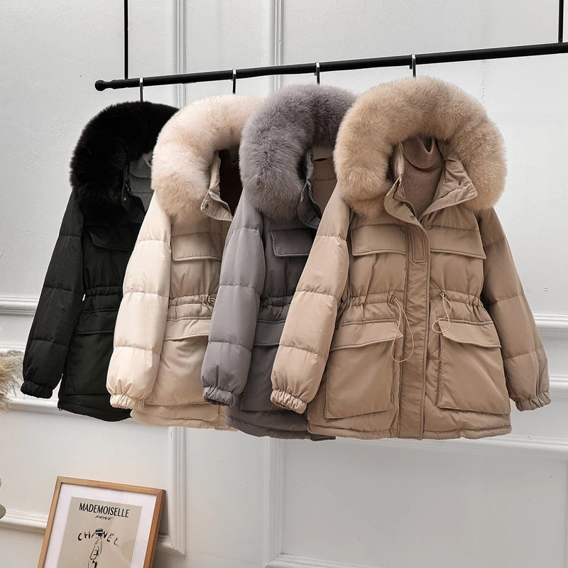 Parka Duck Down Fur Collar Coat (More Colours)